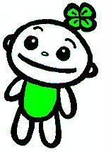 Ilustración de carácter del símbolo el Trébol feliz