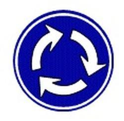 Ilustración de la señal del camino fundada